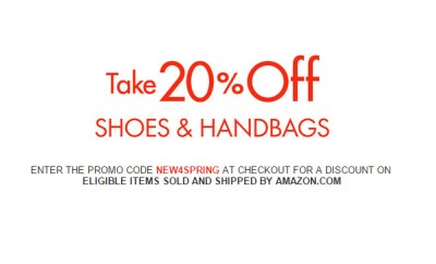 Amazon 20 off spring shoes