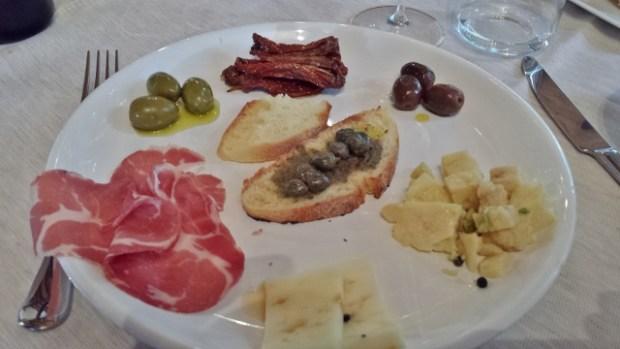 Sicily Wine Tour Barone di Villagrande local appetizer