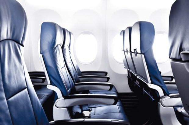 economy class plane cabin
