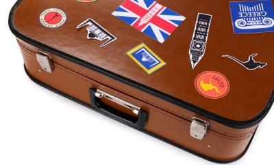 international label suitcase