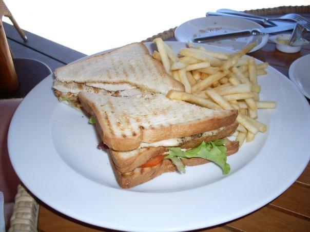 Hilton Moorea Lagoon Resort Club Sandwich