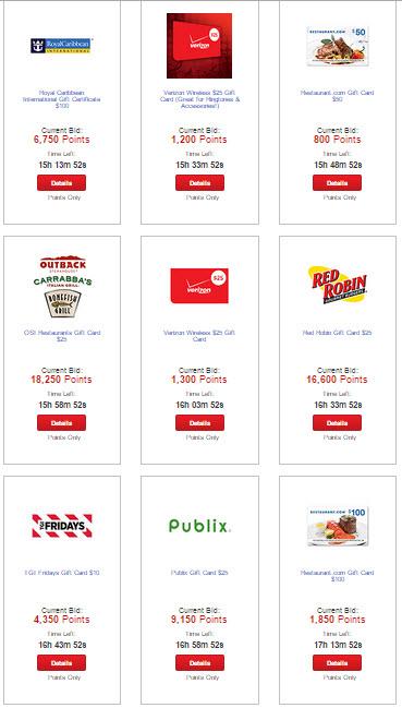 Verizon smart rewards auction examples