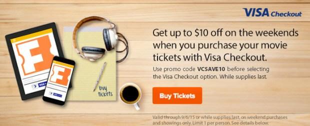fandango promo code 10 off movie visa checkout