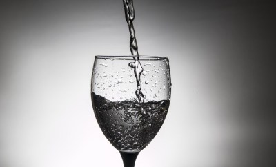 water butlers premium water in wine glass