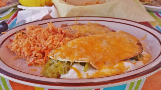 Roses Lariat Rawlins WY green chiles quesadilla