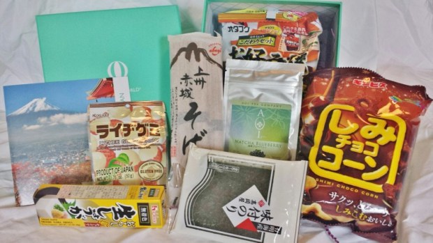Try the World Japan box contents