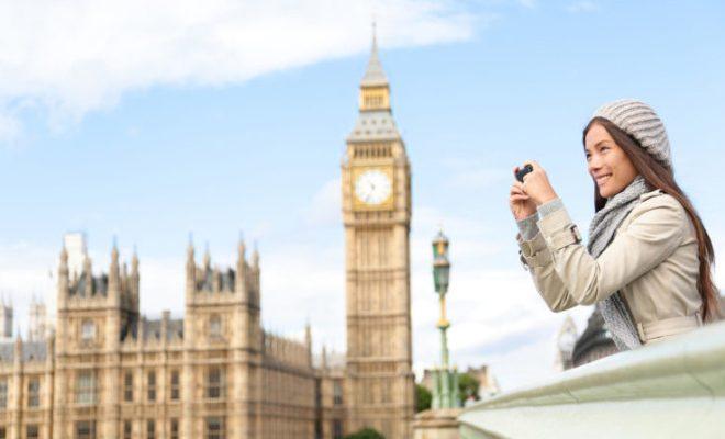 Woman London Big Ben Trench Coat Travel