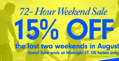 hilton weekend sale 15 off
