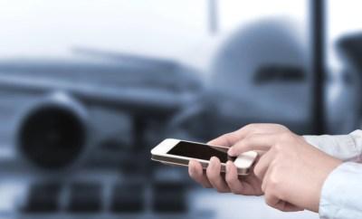 smart phone airport plane