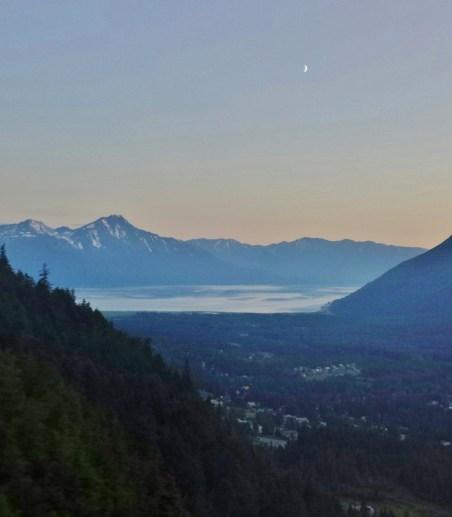 Alyeska Resort Anchorage Restaurants Seven Glaciers midnight view