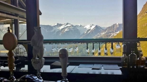 Alyeska Resort Seven Glaciers Bar view
