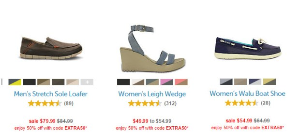 Crocs 50 off sale styles