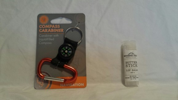 September Cairn Camping monthly subscription box compass carabiner