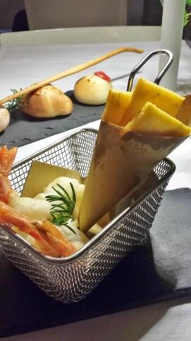 Zash Country Boutique Hotel Restaurant Tasting Menu Fried Shrimp