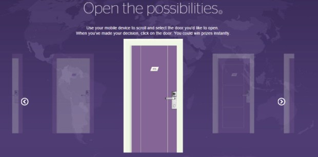 spg open your world promo choose door