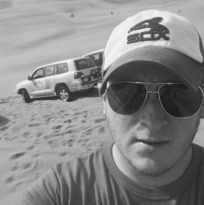 Joe while dune bashing