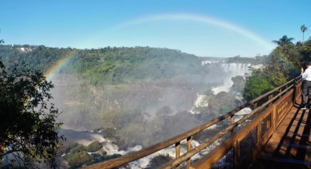 Iguazu Falls Upper Trail full Rainbow
