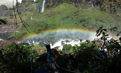 Iguazu Falls rainbow lower trail