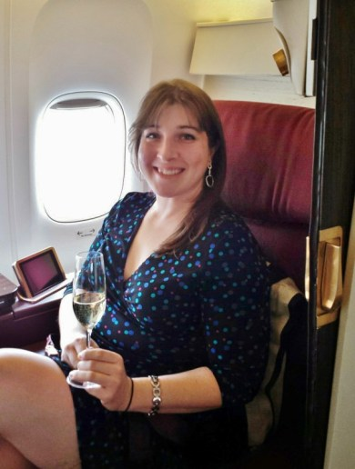 Jet Airways Etihad First Class JFK-AUH Keri Champagne