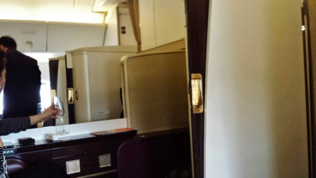 Jet Airways Etihad First Class JFK-AUH suite doors