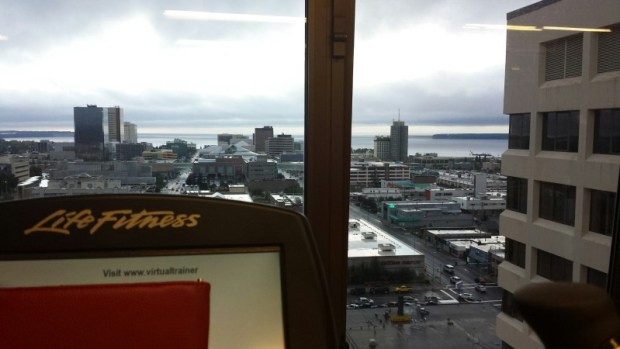 Sheraton Anchorage Hotels view from the gym