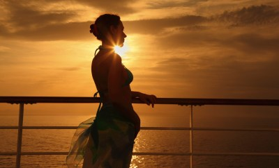 woman on cruise ship deck