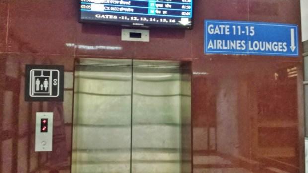 Chennai Airport Lounge Travel Club elevator