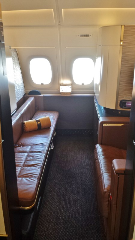 Etihad A380 First Apartment JFK-AUH inaugural seat