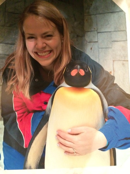 Just hanging out with a penguin