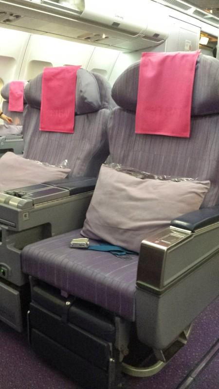 Thai Airways Business Class Chennai Bangkok seat