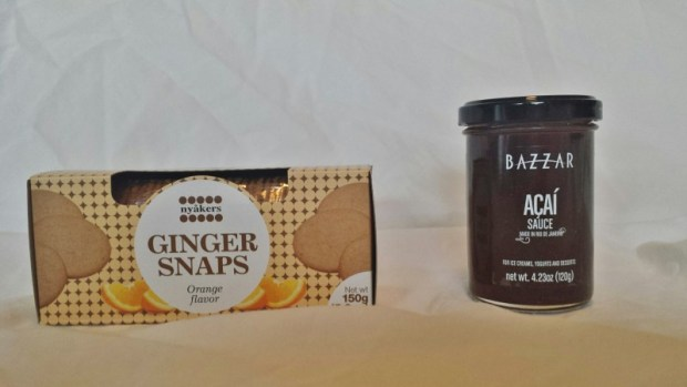 Try the World Review Holiday Box ginger snaps acai dessert sauce