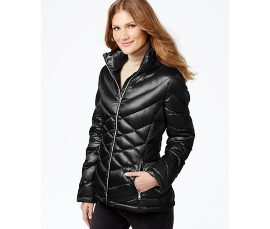 calvin klein quilted packable down puffer coat