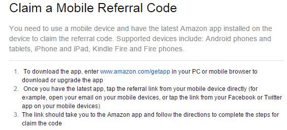 Amazon App Referral Code