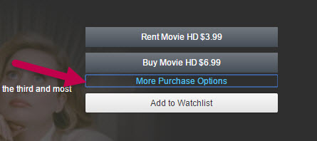 Amazon Movie Rental More Purchase Options