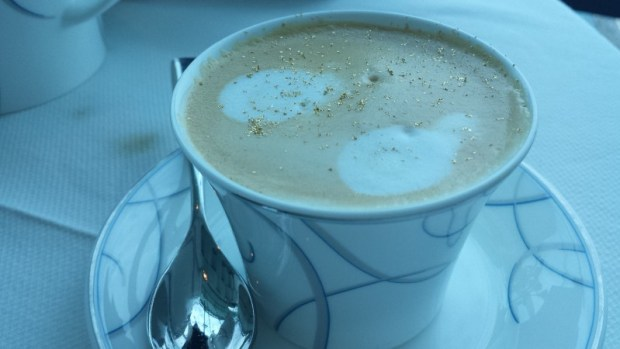 Burj Al Arab afternoon tea Skyview Bar gold dust cappuccino