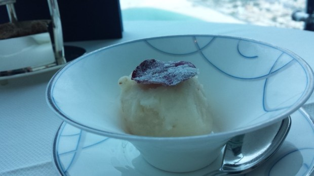 Burj Al Arab afternoon tea Skyview Bar lychee rose sorbet