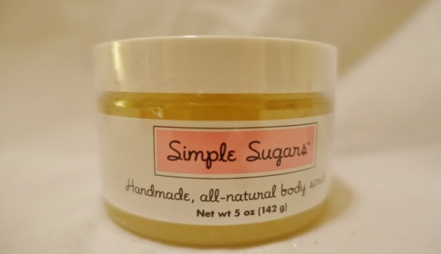 Glossybox December 2015 Review simple sugars scrub