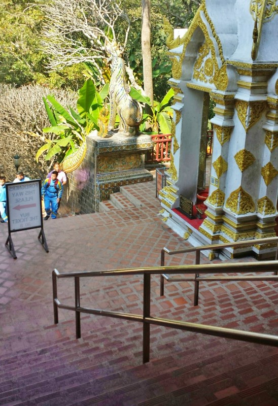 Wat Phra That Doi Suthep naga serpent staircase
