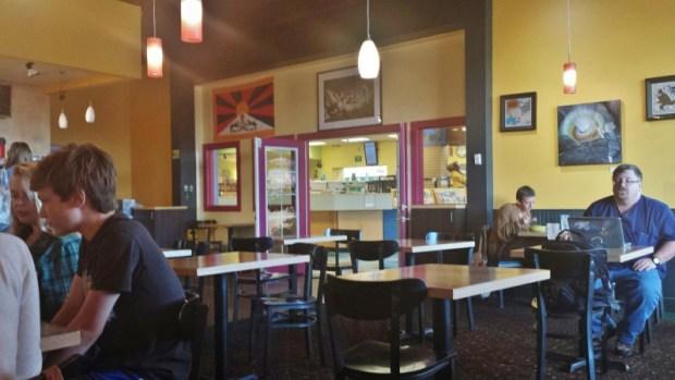 Yak and Yeti Anchorage Cafe Himalayan seating