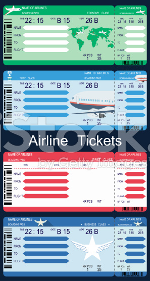 Istockphoto Boarding Pass Template Fake Plane Tickets  Printable Fake Airline Tickets