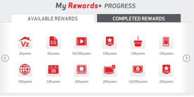 my verizon rewards earning options