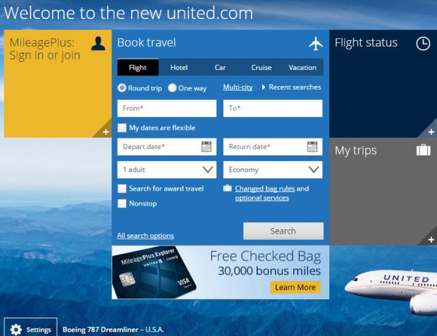 united website mileage plus offer