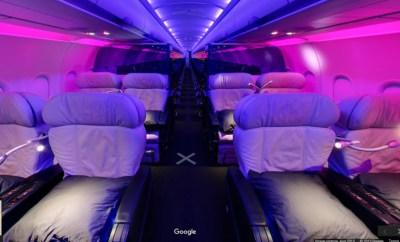 virgin america first class cabin