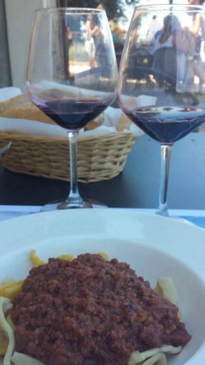 Casa Emma Chianti Tuscany tagliatelle meat sauce pairing