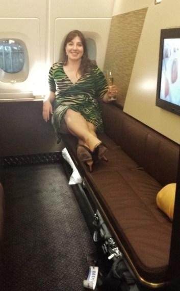 Etihad Airways First Apartment AUH-JFK Keri Bench seat
