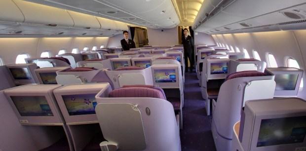 Thai Airways A380 street view business class