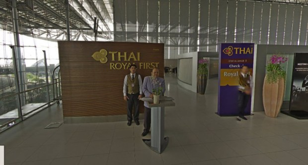 Thai Airways First Class Check In Bangkok Street View