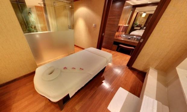 Thai Airways Royal Orchid Spa Bangkok Treatment Room Street View