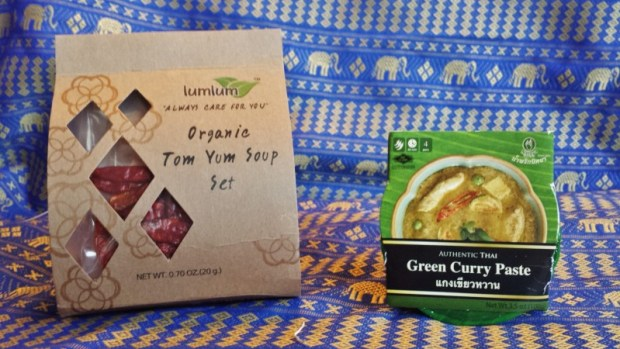 Try the World Food Subscription Box Thailand Box Tom Yum Soup Green Curry