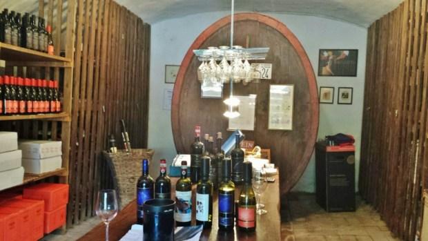 Tuscany wine tours Casanuova di Nittardi tasting room